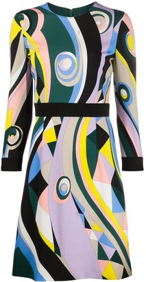 Emilio Pucci Occhi-print short dress