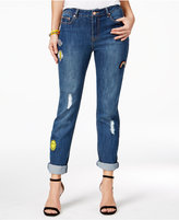 The Edit by Seventeen Juniors' Patch Medium Wash Skinny Jeans, Only at Macy's