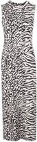 Proenza Schouler White Label Animal Jacquard Sleeveless Dress