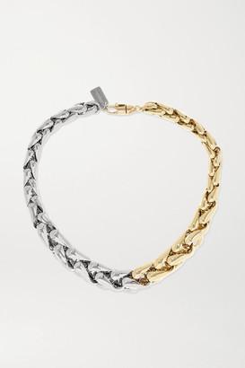 LAUREN RUBINSKI Large 14-karat Yellow And White Gold Necklace