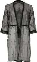 River Island Womens Black embellished kimono