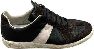 Maison Margiela Replica Brown Leather Trainers