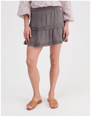 Miss Shop Textured Ruffle Skirt