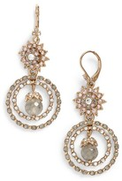 Marchesa Women's Orbital Crystal Drop Earrings