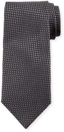 Giorgio Armani Square Silk Tie, Magnet Gray