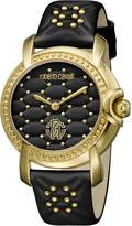 Roberto Cavalli QUILTED Women's Swiss-Quartz Leather Strap Watch