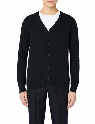 Meraki Men's Lightweight Cotton V Neck Cardigan Sweater