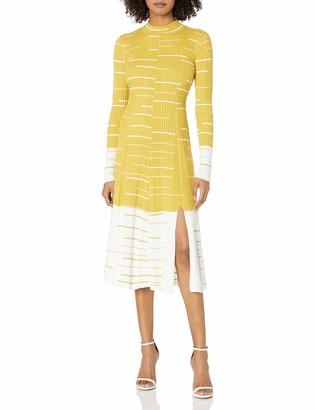 BCBGMAXAZRIA Women's Long Sleeve Sweater Dress
