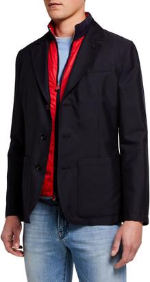 Kiton Men's Tech Jacket w/ Removable Vest