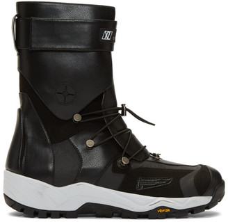 Xander Zhou Black Lace-Up Boots