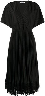 Valentino pleated wrap dress
