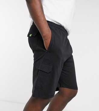 Duke Lightweight French Terry Cotton Cargo Shorts With Zipper Pockets