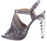 Proenza Schouler Metallic Architectural Sandals