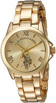 U.S. Polo Assn. Women's Quartz Metal and Alloy Casual Watch, Color:Gold-Toned (Model: USC40043)