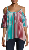 Plenty by Tracy Reese Cold Shoulder Peasant Top
