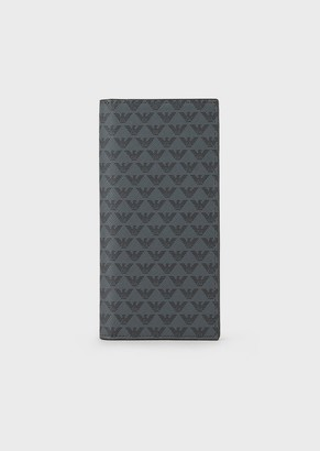 Emporio Armani Large Currency Wallet With All-Over Monogram