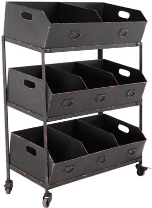 Uma Enterprises Three-Tiered Storage Tray Cart