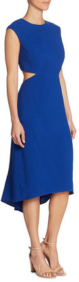 Halston Cut-Out Midi Dress