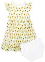 Magnolia Baby Baby Girl's Avocado Printed Ruffle Dress