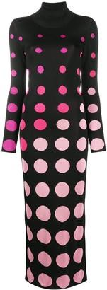 Paco Rabanne Geometric Roll-Neck Dress