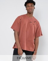 Reclaimed Vintage Oversized T-Shirt In Overdye And Distressing