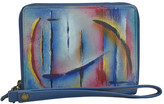 Anuschka Women's Hand Painted RFID Zip Organizer Clutch Wallet
