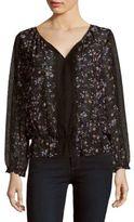 Joie Floral Silk-Lace Top