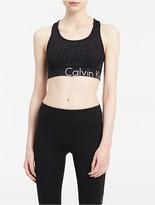 Calvin Klein Performance Reflect Logo Mesh Sports Bra