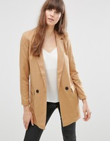 Vero Moda Noah Longline Jacket In Brown