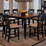 Hillsdale Northern Heights Counter Height Dining Table in Black & Cherry