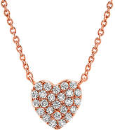 Bliss Cubic Zirconia & Rose Gold Pave-Set Heart Pendant Necklace