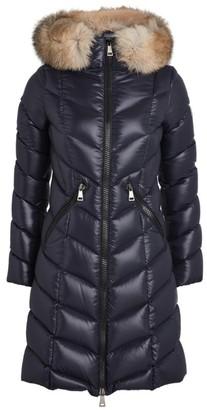Moncler Fur-Trim Down Fulmarus Coat