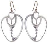 Annette Ferdinandsen Large Sea Shell Slice Drop Earrings