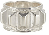 Anna Beck Sterling Silver Faceted Bar Ring