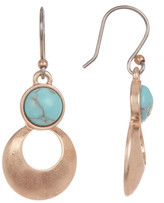 Lucky Brand Rose Gold Turquoise Teardrop Earrings