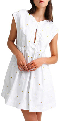 Belle & Bloom Baby Doll Embroidered Dress White XS/S