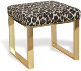 The Well Appointed House Dylan Modern Brass Bench with Bagira Leopard Fabric