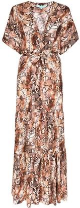 Melissa Odabash Aria snake-print maxi dress