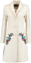 Love Moschino Appliquéd wool-blend coat