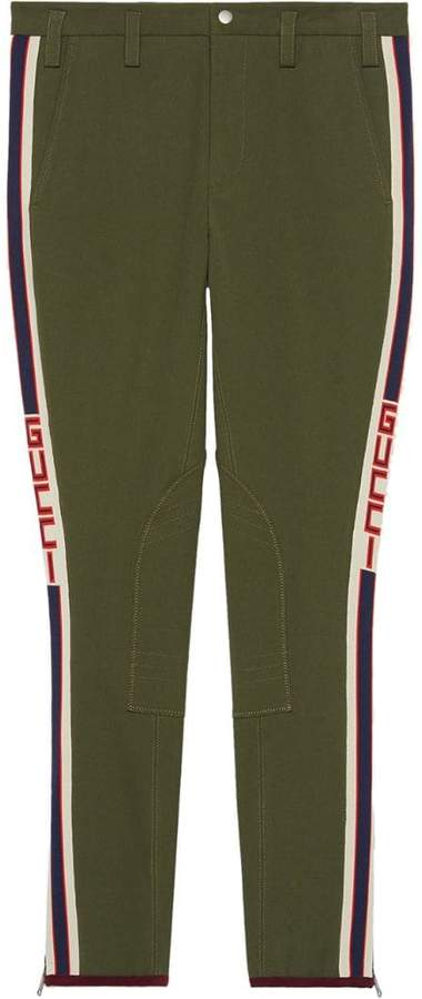 Gucci Gabardine pants with stripe