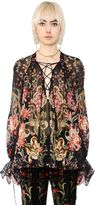 Roberto Cavalli Galaxy Garden Print Silk Georgette Shirt