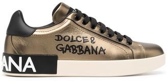 Dolce & Gabbana Portofino logo-print sneakers