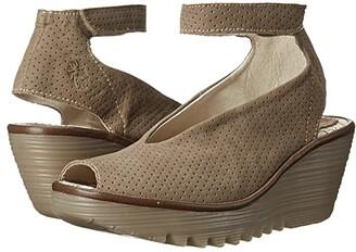 Fly London Yala Perf (Black Cupido/Mousse) Women's Shoes