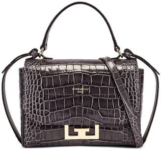 Givenchy Mini Embossed Croc Eden Bag in Storm Grey | FWRD