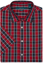 Perry Ellis Short Sleeve Plaid Check Shirt