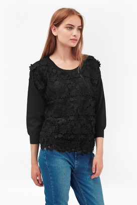 French Connection 3D Crochet Knitted Jumper