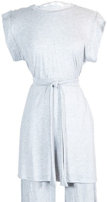 Jennafer Grace Heather Tunic Lounge Top With Tie