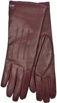 Coach Womens 83875 Red Leather Cashmere Gloves