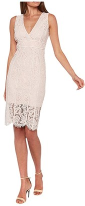 Bardot Lisa Lace Dress (Pink) Women's Clothing