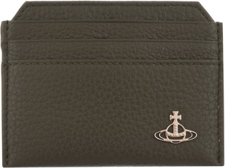 Vivienne Westwood Milano Slim Card Holder Khaki
